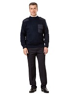 Men's uniform jumper with elbow patches