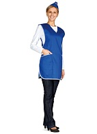 Ladies smock-apron (cornflower blue)