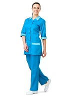 SERVICE ladies  work suit (turquoise)