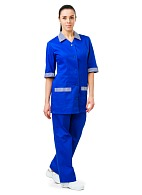 SERVICE ladies  work suit (cornflower blue)