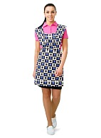SANDRA ladies tabard apron (blue)