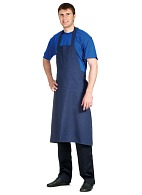 Dark full-size bib apron