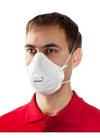 Filtering half-mask (respirator) SuperOne 3204 with exhalation valve for dust and mist protection