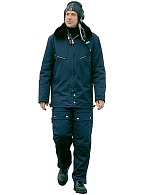 Men's blue mid-weight short flight coat