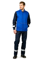 Insulated waistcoat for engineers and technicians