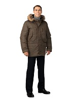 CAPTAIN men's heat-insulated jacket (brown)
