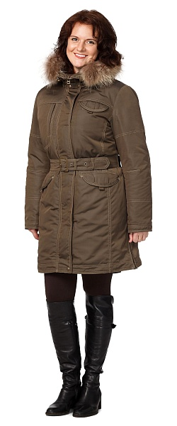 CAPTAIN ladies heat-insulated jacket (brown)