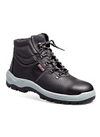 """TECHNOGARD"" men's high ankle leather boots without protective toe cap"
