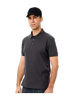 Short sleeve POLO shirt, grey
