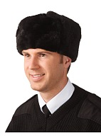 Men's leather top (sheepskin) fur hat