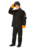 Leather split welder work suit