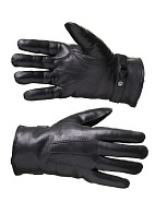 Leather gloves with natural fur lining (sheepskin)