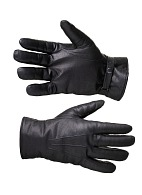 Leather gloves with natural fur lining
