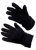 Warm-protective Thinsulate®-lined gloves made of knitted fabric and velour