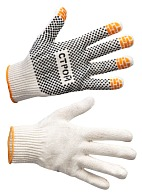 STROI gloves with PVC coating of the palm (Gauge 10)
