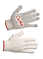 CITY knitted gloves with spotted PVC coating (Gauge 13)