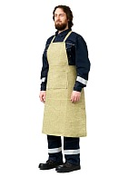 Canvas apron with fire proof finish
