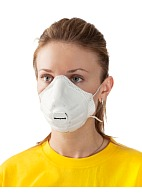 SuperOne 3208 filtering single use half mask (respirator) with exhalation valve for protection against dust, mists