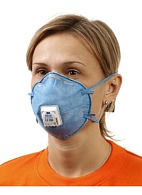 3M™ 9926P speciality aerosol filtering half mask (respirator) with additional protection against ozone gas and relief from nuisance level organic vapors (with exhalation valve) (FFP2, up to 12 MAC)