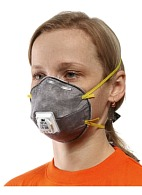 3M™ 9914P speciality aerosol filtering half mask (respirator) with additional protection against organic vapors (with exhalation valve) (FFP1, up to 4 MAC)
