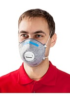 5161 aerosol filtering half mask (respirator) with additional protection against acid gases and vapors (with exhalation valve)