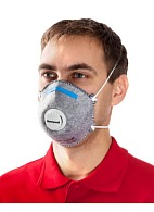 5261 aerosol filtering half mask (respirator) with additional protection against acid gases and vapors (with exhalation valve)