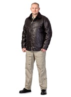 CLASSIC leather men's jacket for flight personnel