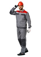 """MOLOTOK"" men's  work suit, grey"