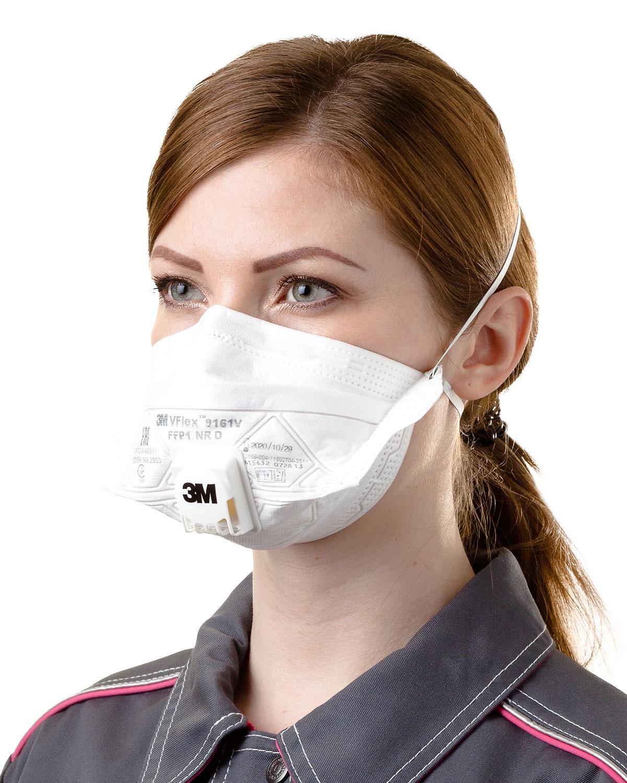 3M™ VFlex™ 9161V aerosol filtering half mask (respirator