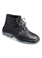 STANDARD-M insulated leather high ankle boots with steel toe cap