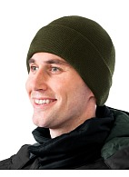Double layer knitted hat with Thinsulate® lining, olive