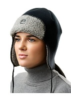 ORSA SE trapper hat with membrane eVent, black and grey