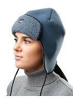 ORSA SE trapper hat with membrane eVent, grey and blue