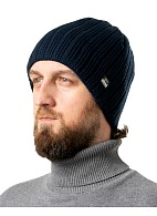 SKYDD knitted hat with eVent membrane, dark blue