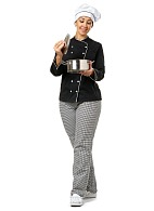 PROVENCE ladies chefs jacket, black
