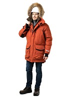 FOX men's heat-insulated parka, terracotta