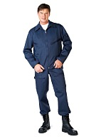 Men's blue  two-piece flight suit