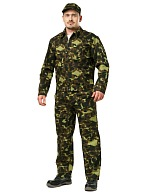 Men's camouflage  two-piece flight suit