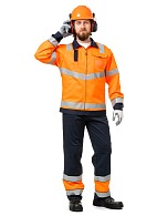 TERMINAL-A men's high visibility  work suit made of anti-static fabric