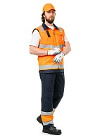 """TERMINAL-A"" men's high visibility  work suit made of anti-static fabric"