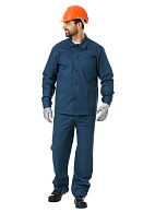 Men's  cotton work suit with reinforced elbow and knee areas for extra durability
