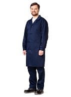 Men's cotton blend smock