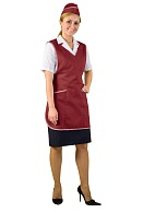 Ladies smock-apron (claret)