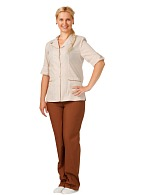 CLEANING ladies  work suit (brown)