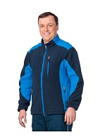 SOFT fleece jacket (navy blue with cornflower blue insets)