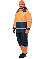 SIGMA men's high visibility heat-insulated work suit