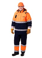 MAGISTRAL men's high visibility insulated work suit