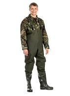 PVC waders with bib overall