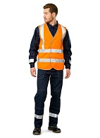 GABARIT-4 high visibility vest, fluorescent orange