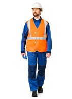 ECONOM high visibility vest, fluorescent orange